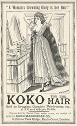 Advert for Koko, hair care product